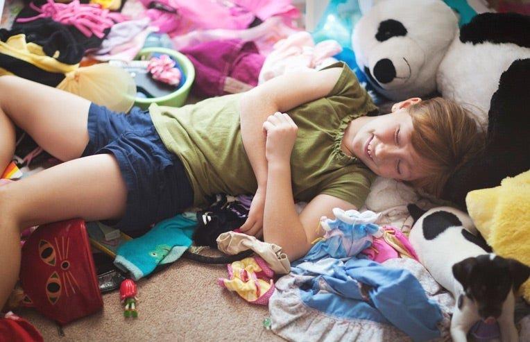 messy kid's room